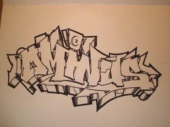 Gambar Grafiti Keren Pake Pensil
